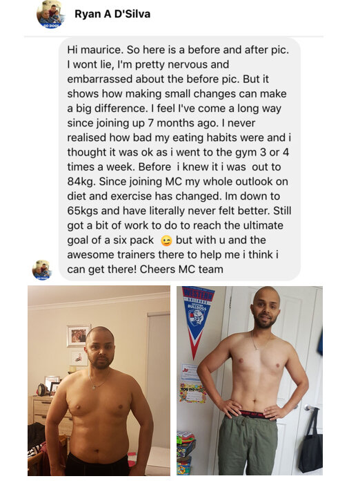 """""""I'm down to 65kgs and have literally never felt better"""" - Ryan D'Silva"""
