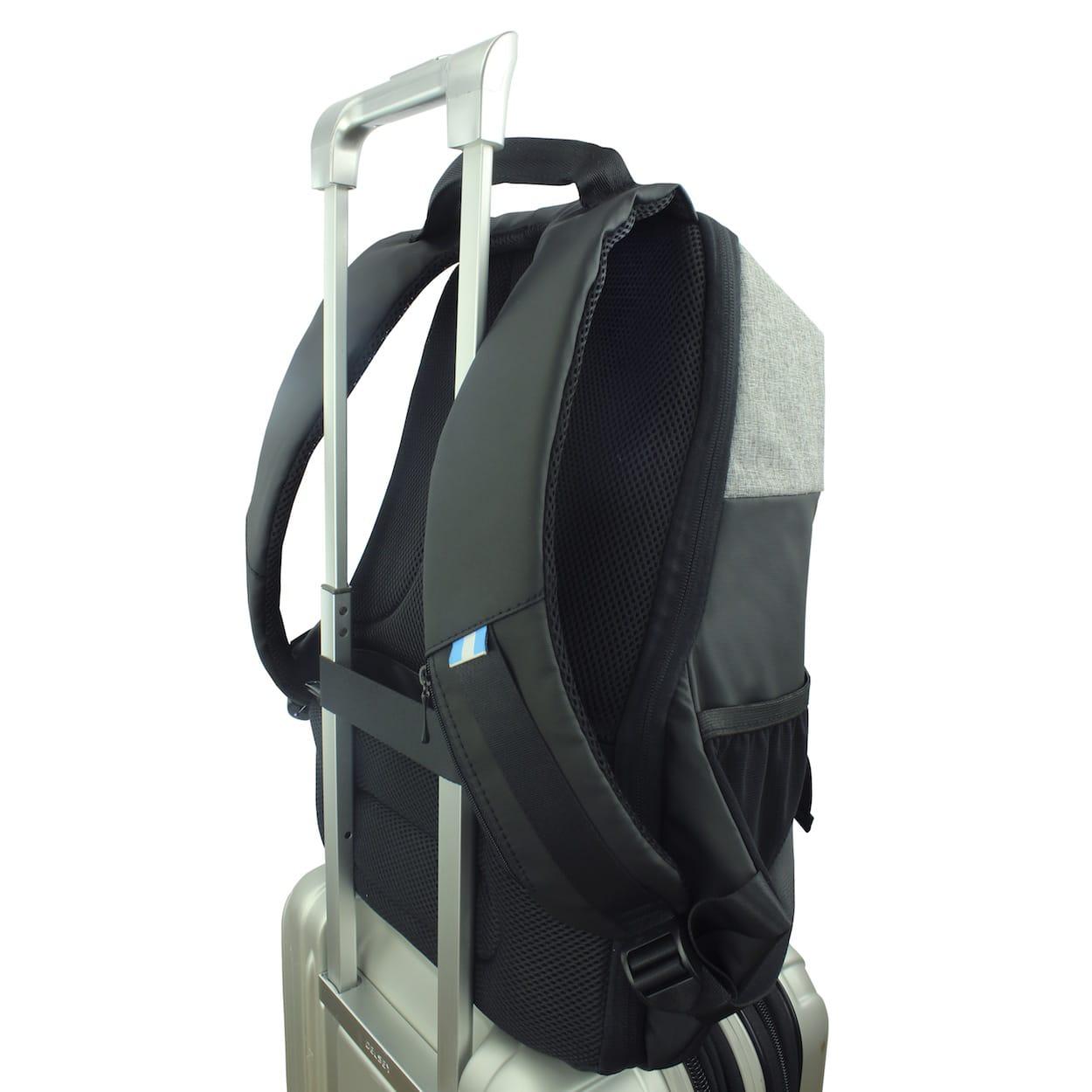 Comodidad para viajar - Cuenta con un strap en la parte posterior para acomodar tu Molvu Go en la maleta de rodos y evitar llevarla en los hombros