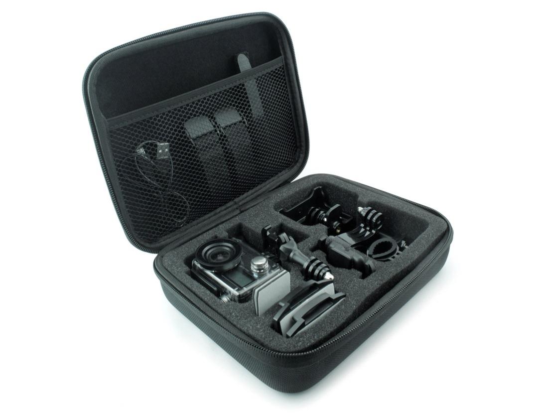 Estuche M4 - Muy práctico, portable y protege tu cámara y accesorios. Fabricado de un material rígido para una mayor protección, por afuera cuenta con lona balística que soporta salplicaduras de agua y en la parte interior cuenta con un material suave para no rayar tu equipo.