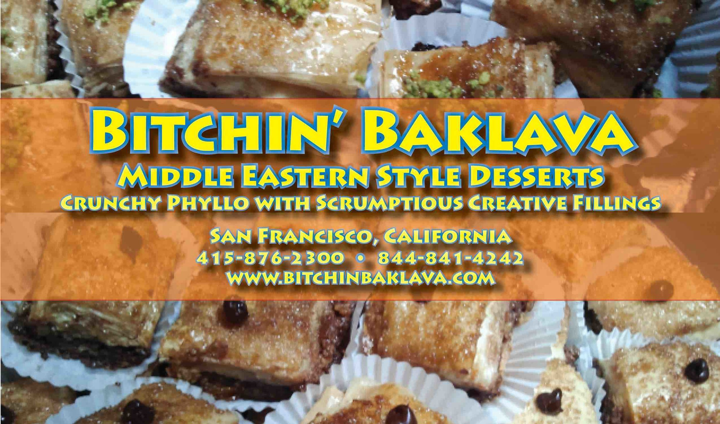 Bitchin' Baklava - One month free when subscribing for six months of seasonal baklava.