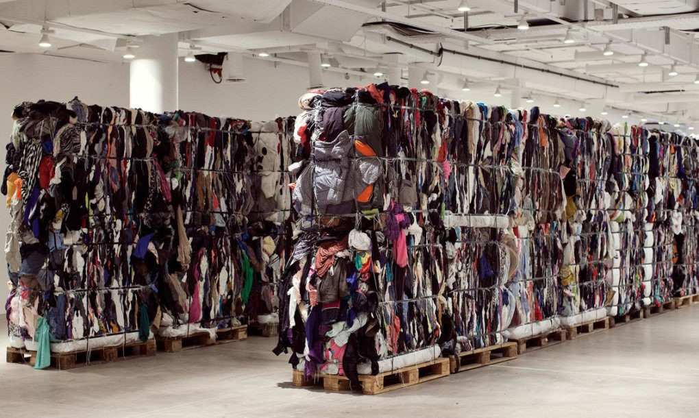 Vetements' designer Maja Weiss made art out of 17 tons of secondhand clothing (2016)Credit: Willy Vanderperre