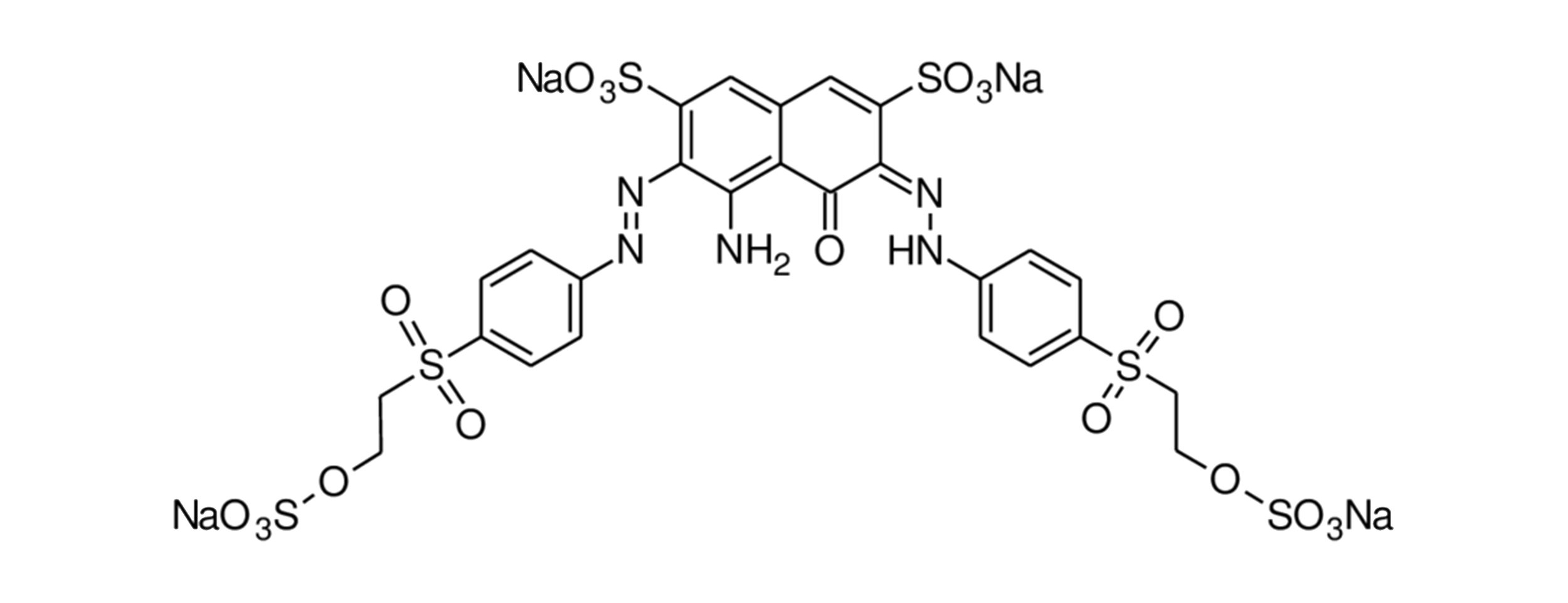Chemical structure of azo dye Reactive Black 5