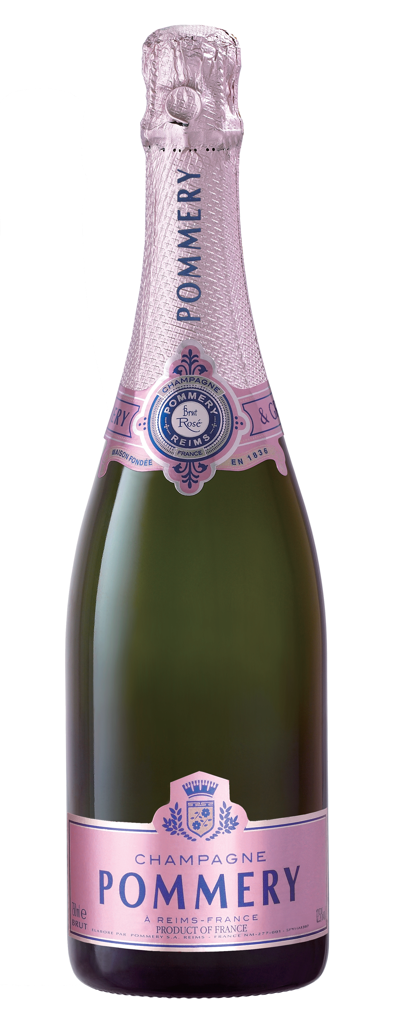 Champagne Pommery Brut Rosé - Champagne34% Chardonnay, 33% Pinot Noir, 33% Pinot Meunier + 7% Pinot Noir Grand cru BouzyNT$ 2,800這款粉紅是經典Pommery Brut Royal的改造酒款,通過用心釀造的紅葡萄酒,和多種不同白葡萄品種,絕大多比例為Chardonnay,所釀造的白葡萄酒所調配而成。精美的淡粉紅色,略帶鮭魚色調。細而持久的氣泡。紅色漿果香氣,卓越的新鮮細膩,增加其圓潤和柔軟。非常微妙的粉紅氣泡特徵:柔軟、細膩、新鮮和活力。This rosé is a faithful variation of classic Pommery Brut Royal created through the assembly of a red wine made with this mind, and different wines vinified in white, within a great proportion of Chardonnay. Delicate pale pink with slightly salmon tones. Fine and persistent bubbles. Small red berries suggesting roundness and softness enhanced by a fine freshness in a world of distinction. Very subtle rosé character: supple and finely robust with and appealing freshness and liveliness.得獎紀錄:金牌獎 Gold International Wine Challenge 2018