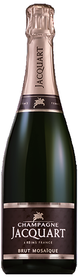 Champagne JACQUART Brut Mosaique NV, 750ml - Champagne40% Chardonnay, 35% Pinot noir, 25% MeunierNT$ 2,000酒體呈現玫瑰花果般的橘粉色調。豐富的香氣充滿野草莓、灌木桃和金橘;濃郁、茂盛、肉質的紅色和黑色水果在口感上相當出眾,增添了奔放的味道,同時也有酸度的表現。由果香及花朵的香氣支撐新鮮度和鹹度。Satin pale yellow with golden nuances and jade highlights. Fine bubbles herald a fresh and fairly rich Champagne. Flowery scents of honeyed, honeysuckle petals, fruit aromas of crushed pear, candied lemon and peach, and soft, creamy notes with biscuit and fresh bread crust unfurl on first pour. Fleshy, fruit-driven weight develops on the palate which is forthright, ethereal and generous.