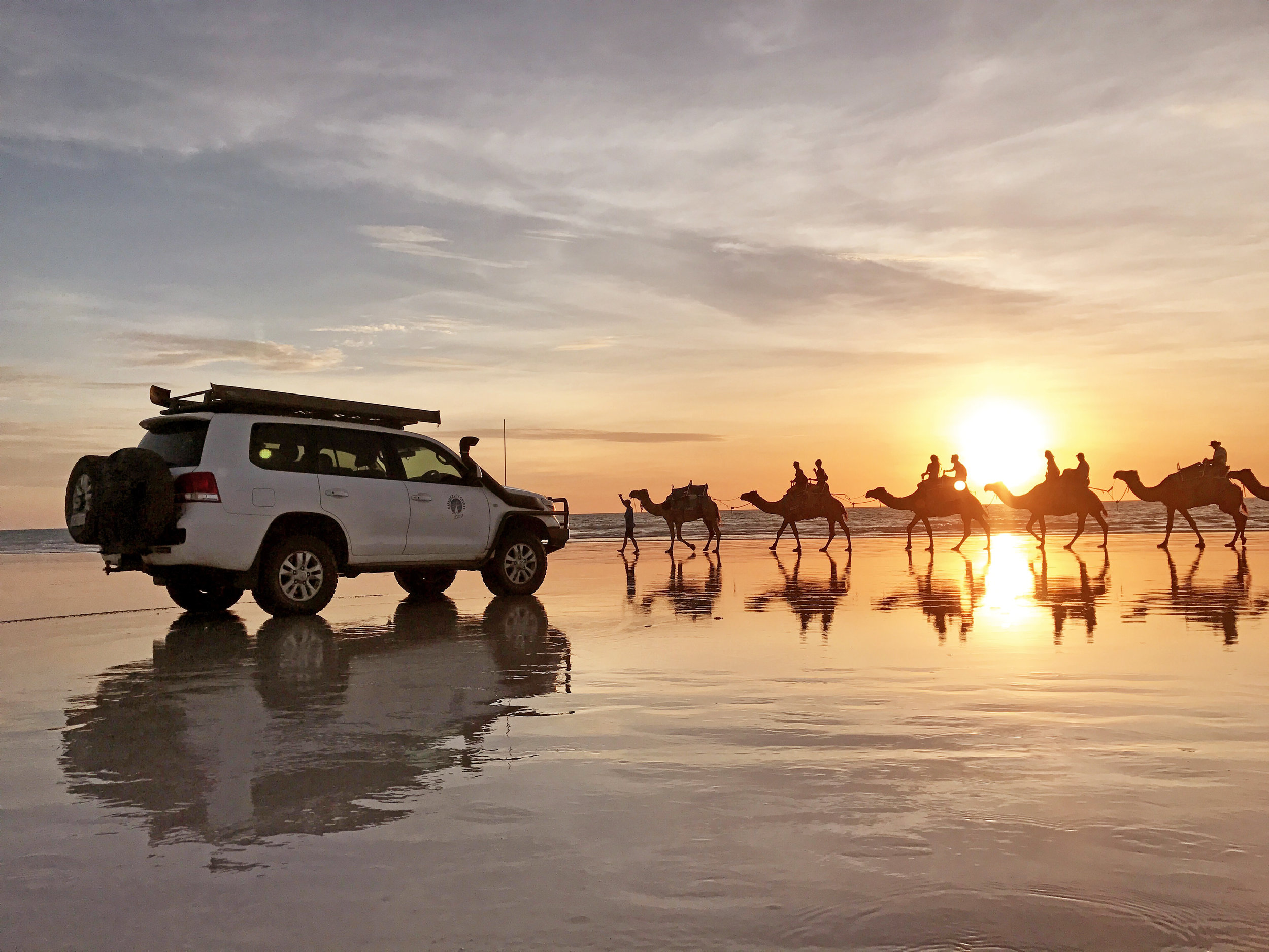 On safari. Any tour that ends with Cable Beach is a good tour!