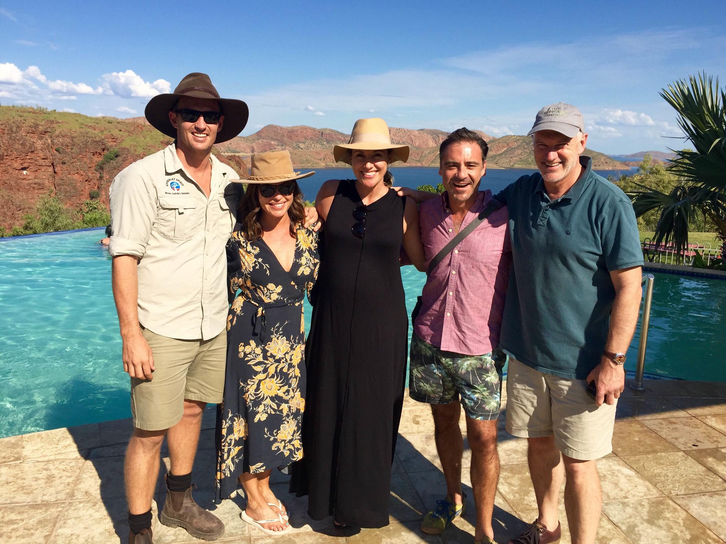 On location with the Sunrise crew at Lake Argyle