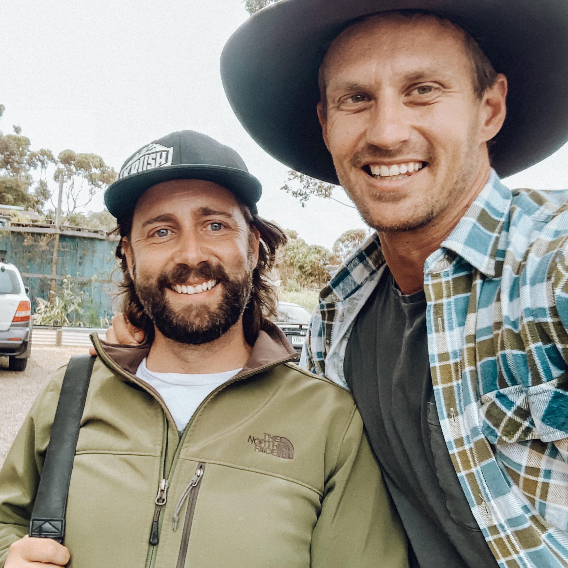 Brendan Batty (left) Exploring Eden Media