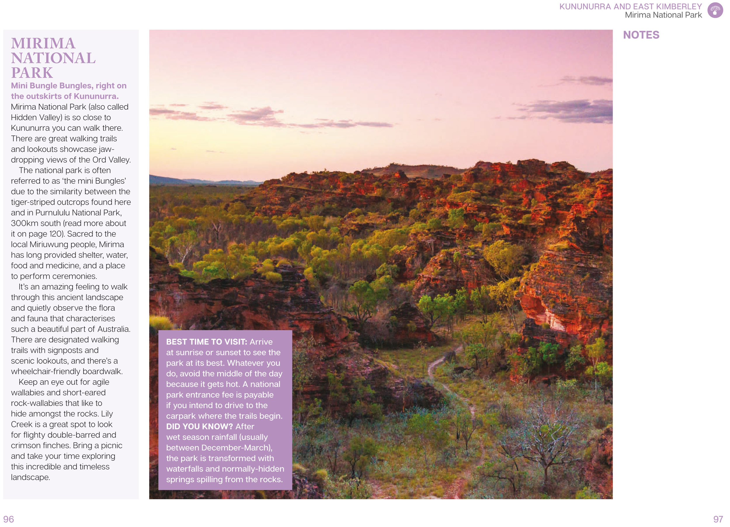 Read all about Mirima National Park in our book - 100 Things To See In The Kimberley