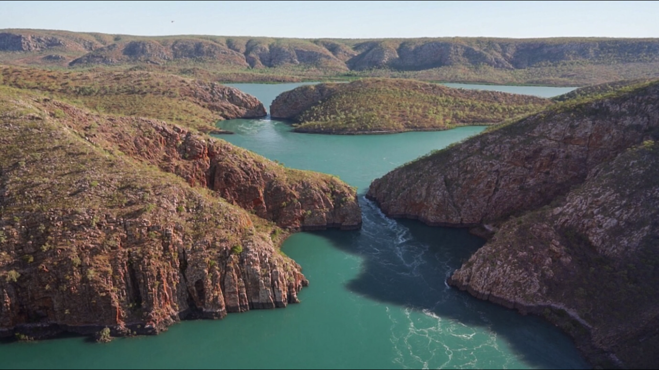 Horizontal Falls, Talbot Bay by helicopter. Image by  Renata Lorrain