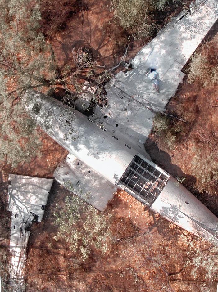 Vansittart Bay DC-3 wreck, the Kimberley, Australia. Image by  Renata Lorrain