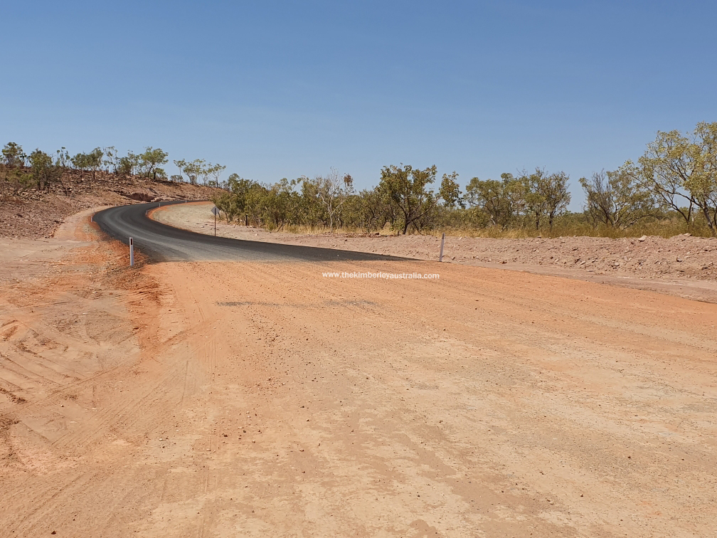The western end of the new bitumen. Pic by B. Connell.