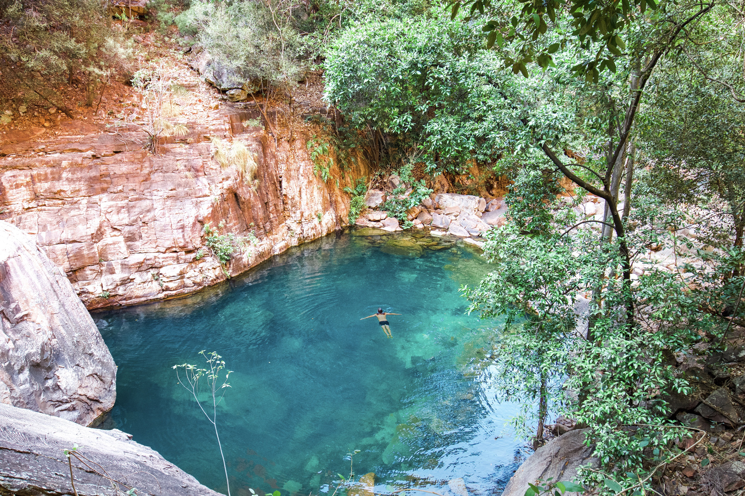 One of the many gorges accessed from the Gibb River Road. Turquoise Pool. Pic by  Elise Cook.