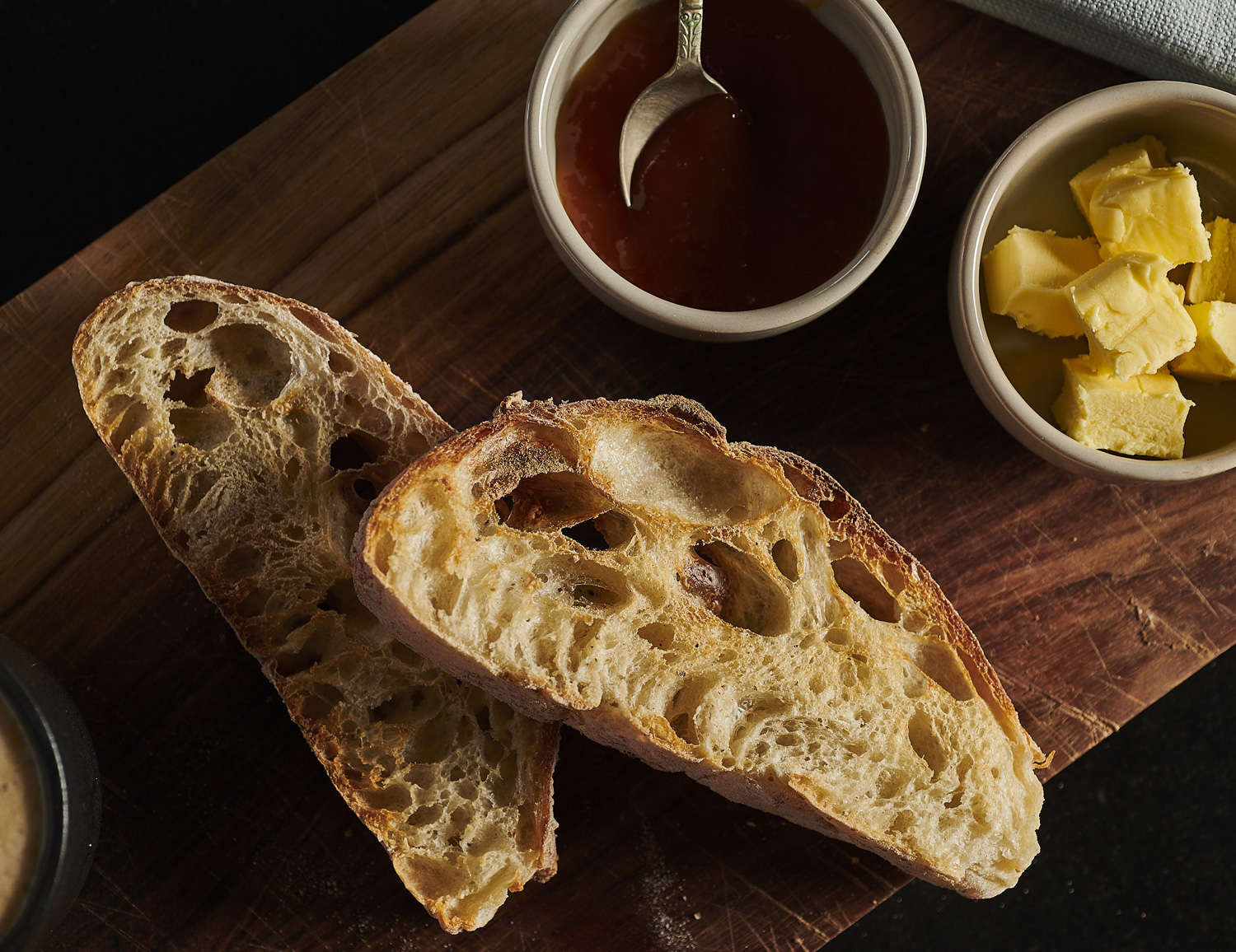 CIABATTA    Toasted, with Butter and Jam