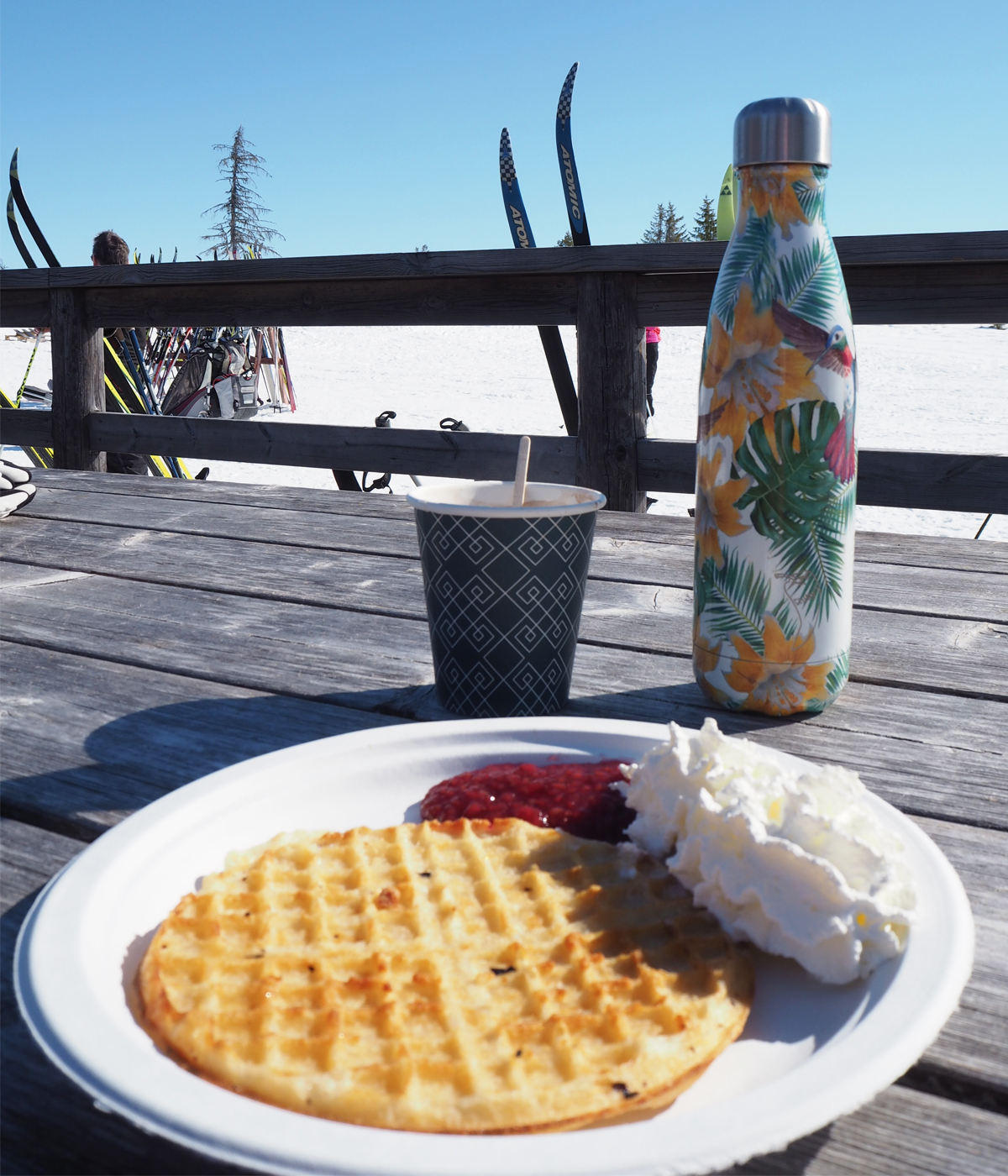 Waffle and hot chocolate break