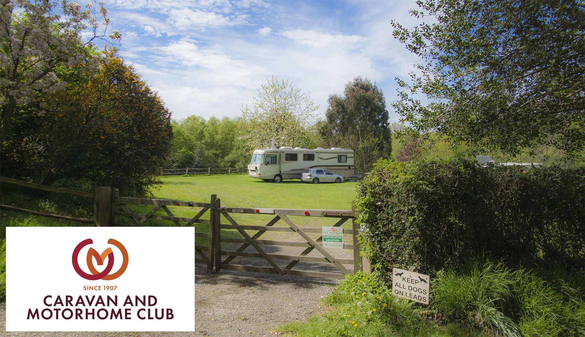 Camping and caravan club at Heaven Farm