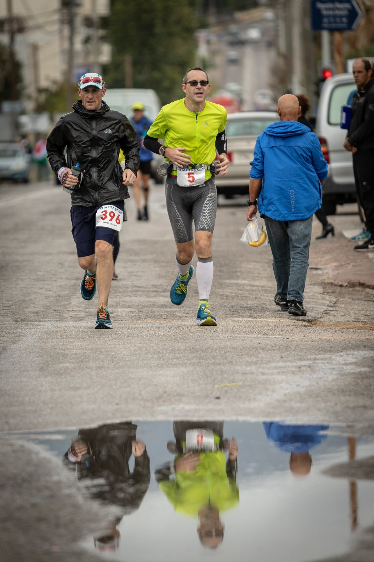 Approaching Megara with JV. I figure he's alright running through that puddle!  Photo Credit - Chris Mills