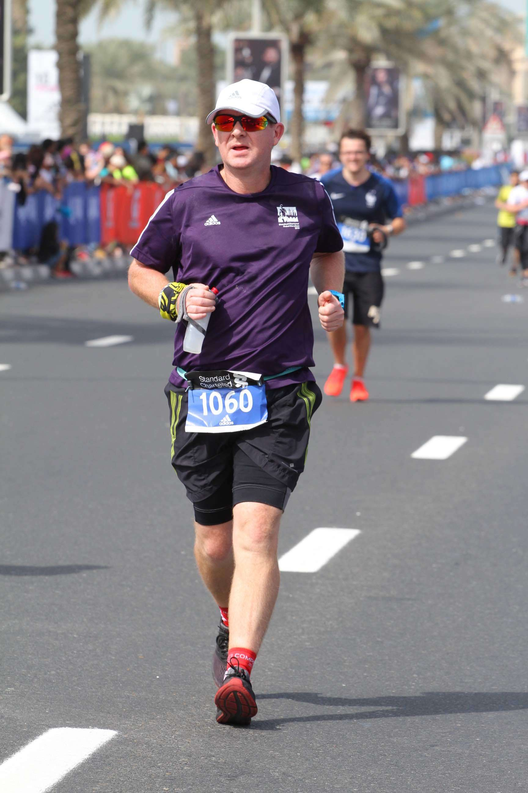 - Jeff looking strong as he heads towards the finish.Jeff has been kind enough to reflect upon the first few months of coaching with us and share where he has felt the most benefit:*The informal casual banter and encouragement via What's App is complimented by the serious tips and notes on training peaks. To me it feels like training peaks = 'this is coach speaking, follow these instructions and get it done' and What's App is 'c'mon mate, we are really rooting for you and cheering you on'. I love that balance.*I loved how you realised that getting me plugged into events on the weekend was 'my thing'. I really am not much of a plodder so knowing that I have to commit to and run an event on the weekend gave me really good goals. From September to January I ran six big races including two half marathons and two 20km desert trail races. These really helped keep focus. The 25km training run with Daz really helped understand nutrition and fueling. I didn't hit a 'wall' in the marathon because i was so well briefed on the use of fuel, in particular the Tailwind and the gels. Chatting about fuel also helped to inform the meal plan for the entire month leading up the race, especially the last seven days.