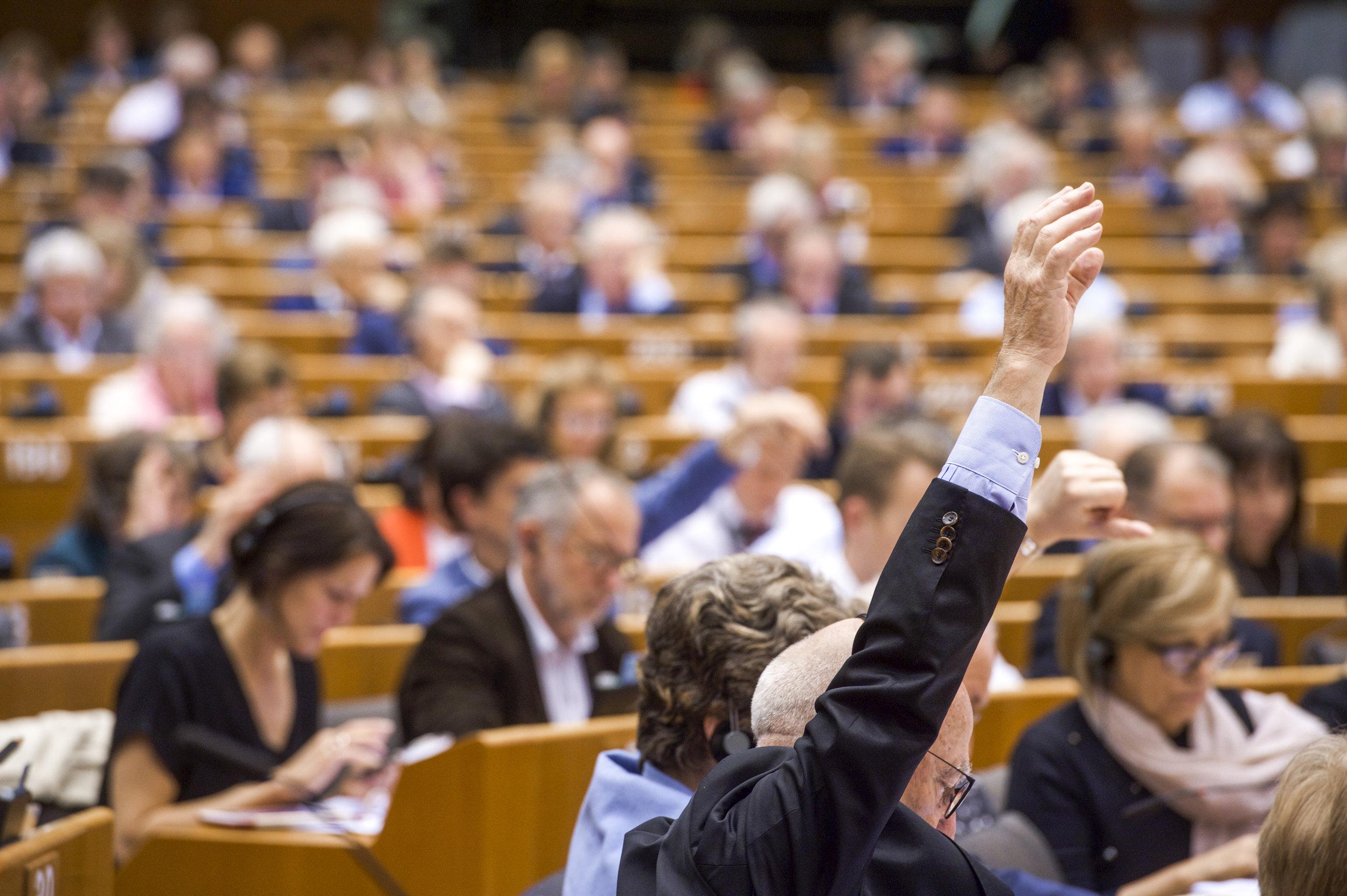 Plenarno zasedanje EU parlamenta. Foto: Jan Van De Vel © European Union 2019 - Source : EP
