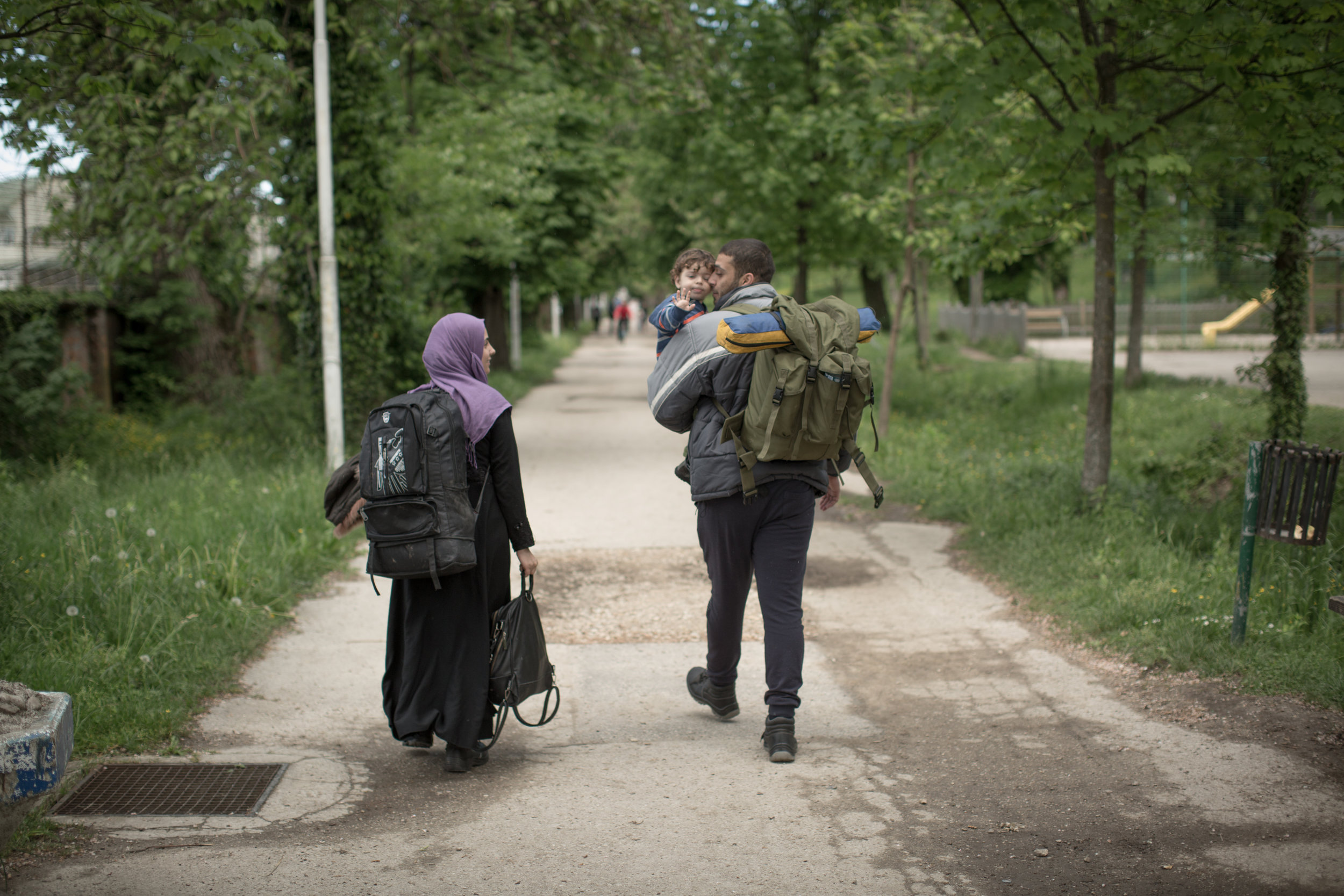 "A family from Syria before take off into the ""game"", Bihać, BiH."