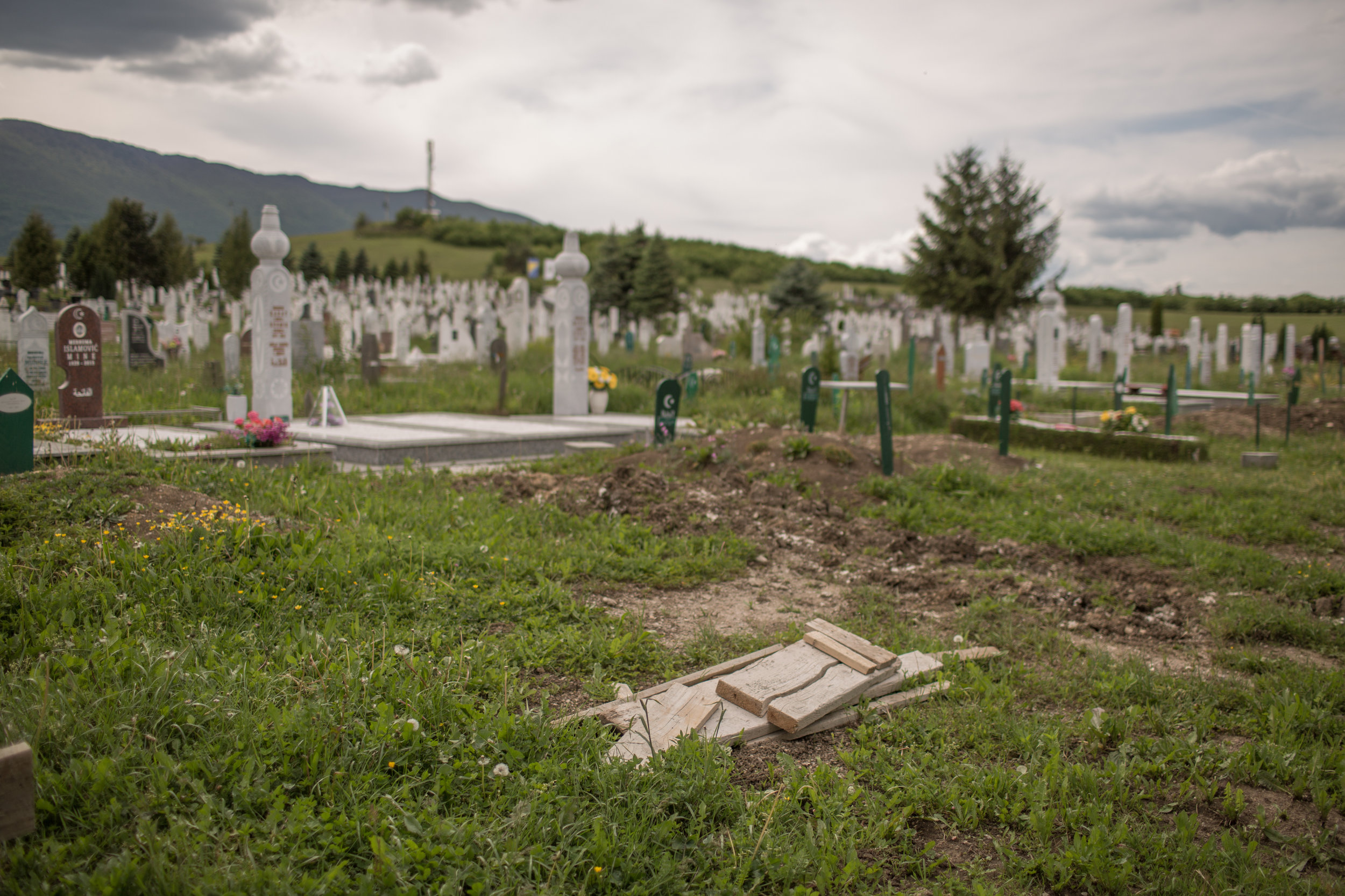 A cemetery in Bihać, BiH. The deceased migrants in the Bihać area are temporarily buried here. If they identify them, they are transported to the countries of their origin through the embassies.