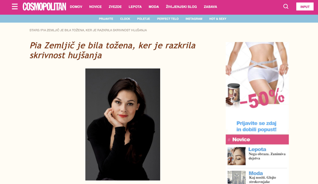 Posnetek spletnega mesta Semitical.ru.