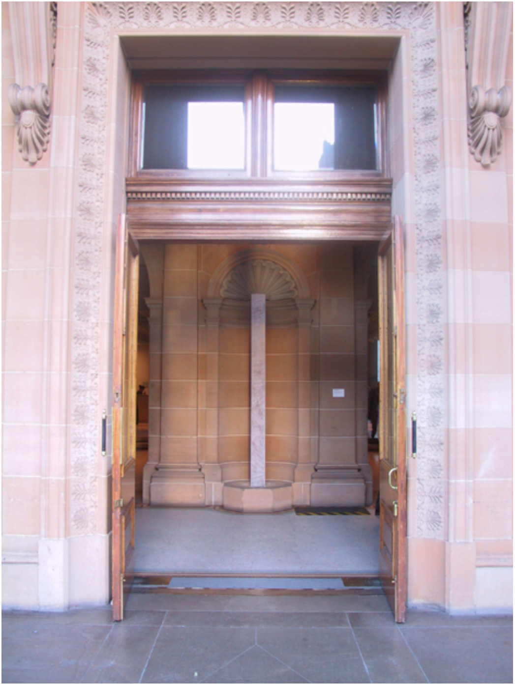 'AGNSW Entrance & Vestibule'; flocking, perspex, cable, sewn interfacing, steel plate, dimensions variable