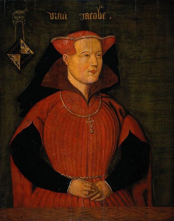 Portret Jacoba van Beieren, 16e eeuw (Rijksmuseum).
