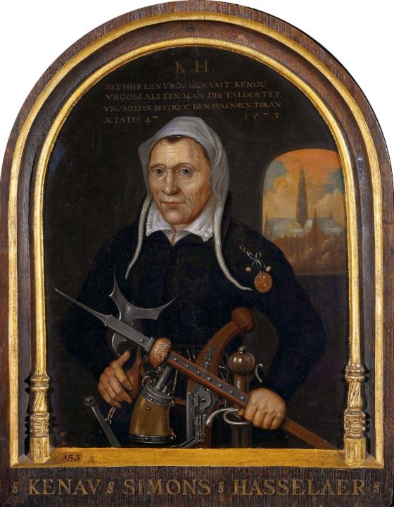 Schilderij Kenau Simonsdr Hasselaer, maker onbekend ca. 1577-1600 (Rijksmuseum).