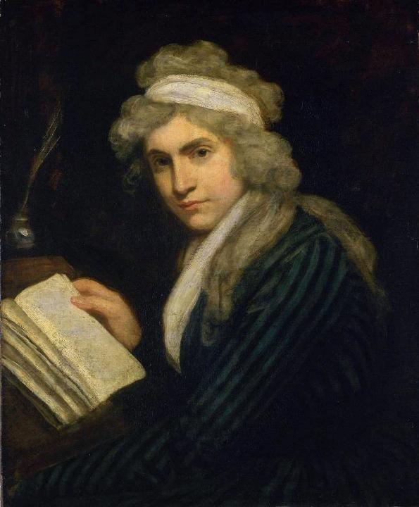 Portret van Mary Wollstonecraft, circa 1790-1791.