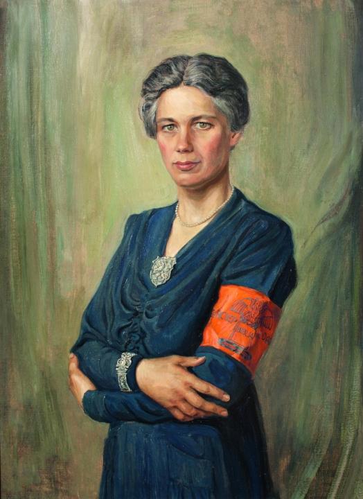 Portret van Jacoba van Tongeren, schilderij van Max Nauta uit 1945.