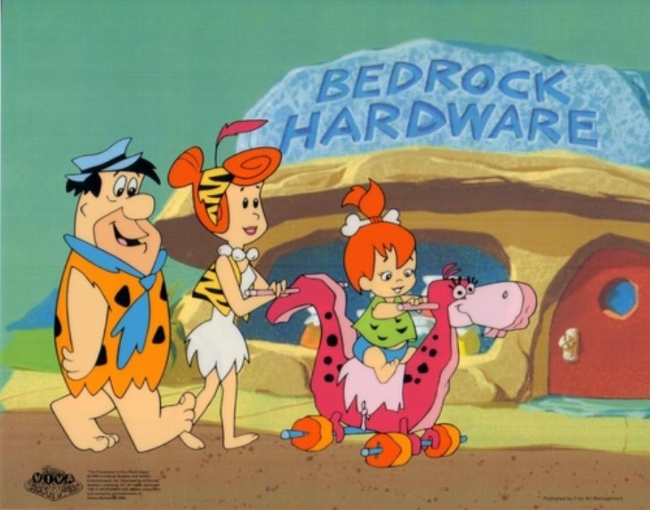 Still uit tekenfilm de Flintstones.