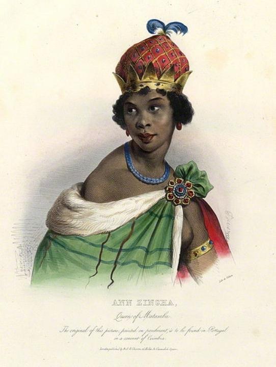 Een ingekleurde prent van de koningin, circa 1830.