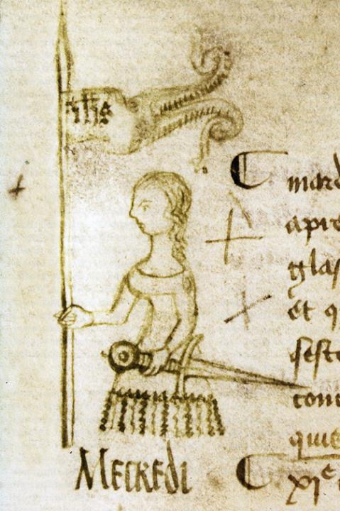 Er bestaan vele afbeeldingen van Jeanne d'Arc, maar dit is de enige  afbeelding gemaakt door een tijdgenoot. Afkomstig uit een middeleeuws  manuscript (1429).