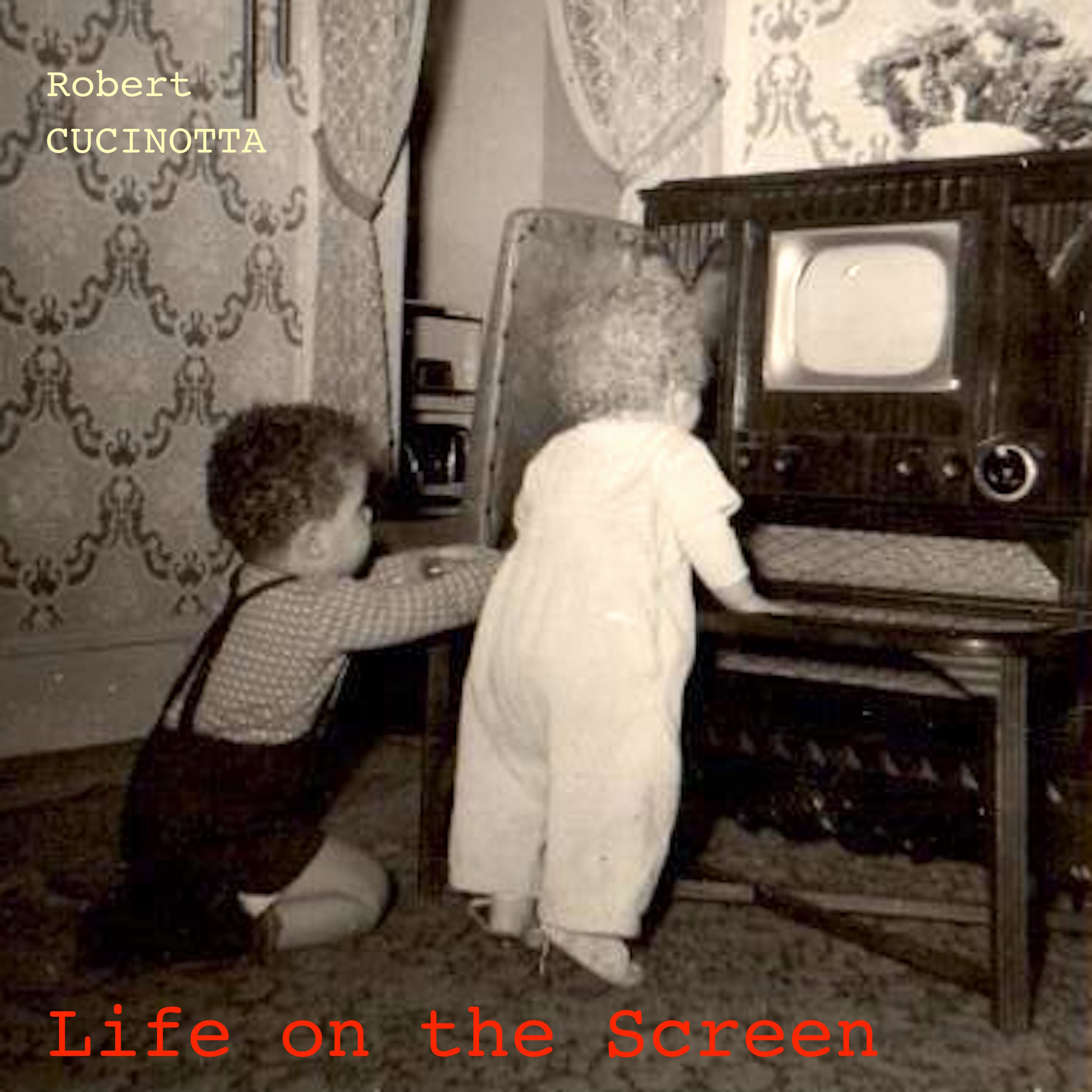 My brother and I watching TV in the early fifties.