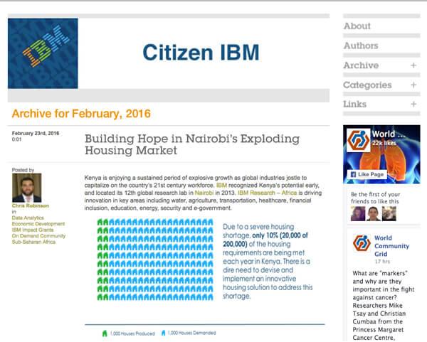 citizen IBM blog image example of good content marketing 2