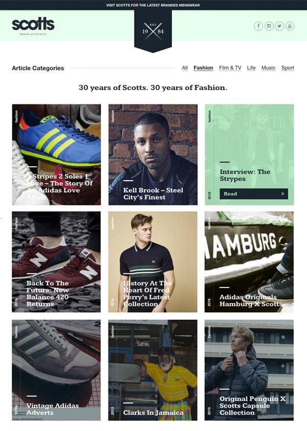scotts menswear blog good content marketing example