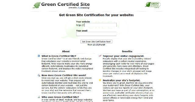Greencertified site