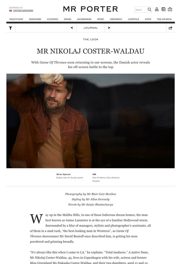 Mr porter the journal good content marketing example