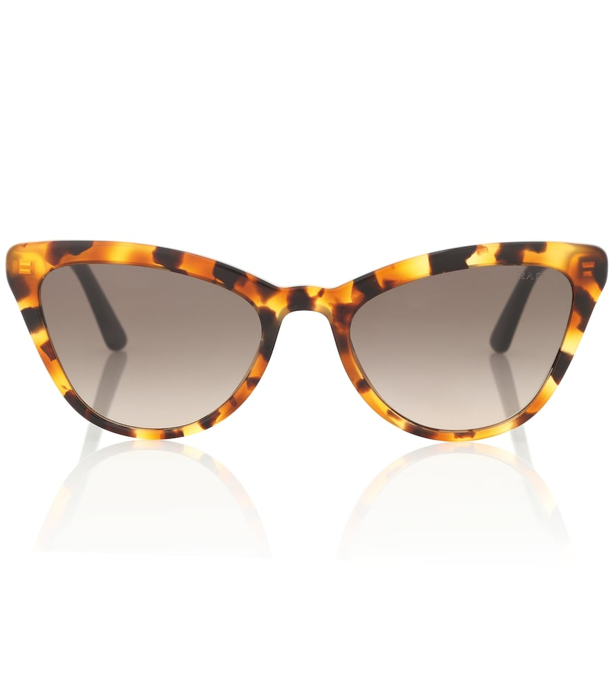 Add glamorous edge to your vacation edit with this pair of Ultravox cat-eye sunglasses from Prada.