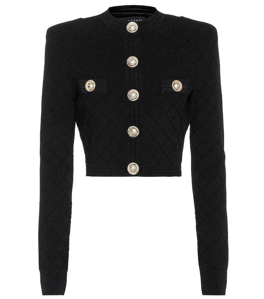 BALMAIN  Cropped knit jacket. £ 845