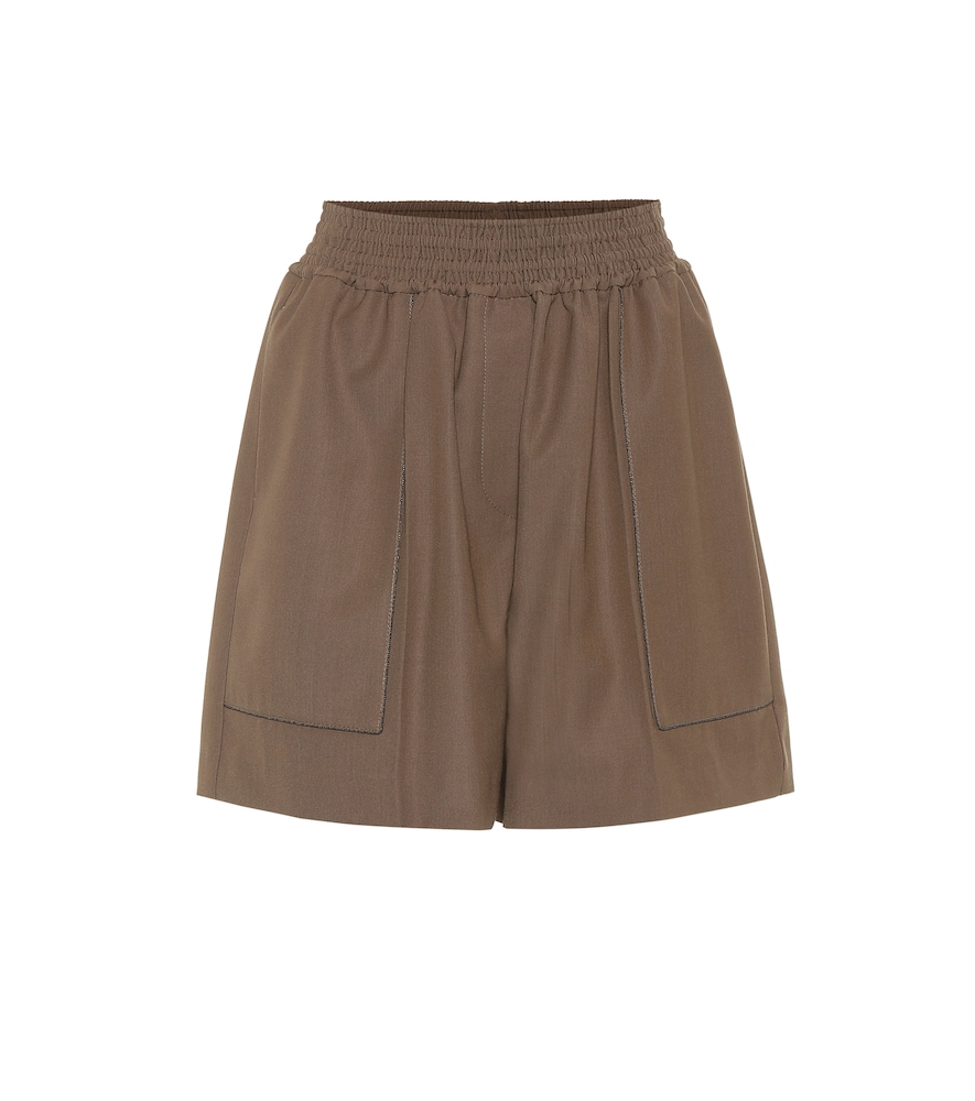 A comfortable design that can easily be worn to the office, these wool-blend shorts from Brunello Cucinelli will work overtime in your summer edit.  £ 770