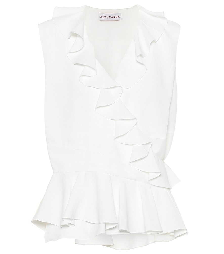 Play into your feminine side with the Depeche ruffled silk-blend top from Altuzarra.
