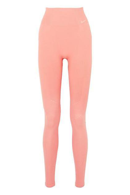 Nike - Power Perforated Ribbed Dri-fit Leggings - Pink (£ 60)