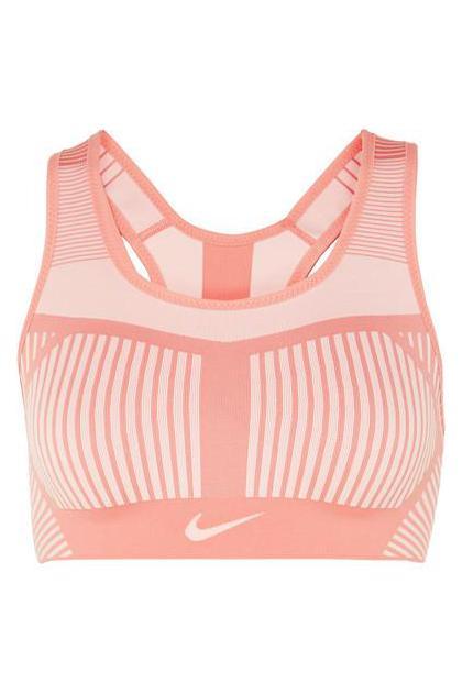 Nike - Fe/nom Striped Flyknit Sports Bra - Pink (£ 70)
