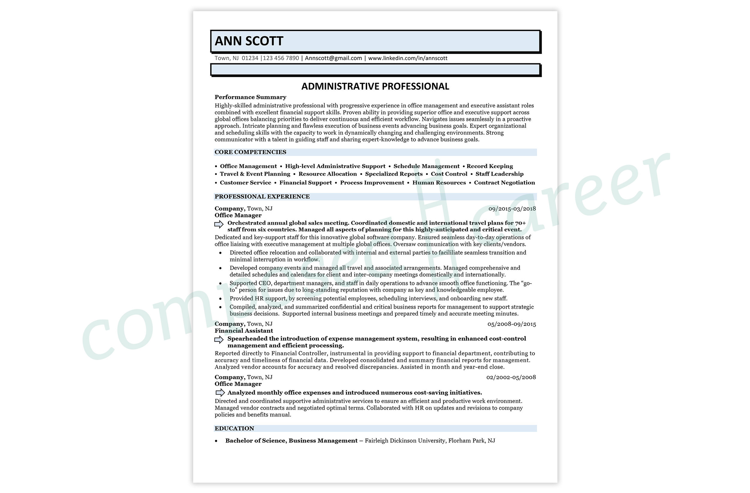 Sample - Administrative Professional