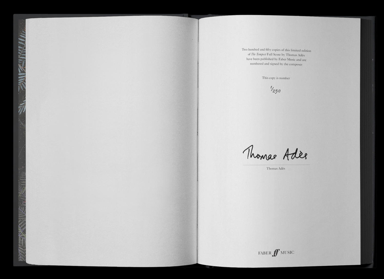 each copy is signed and numbered by the composer -