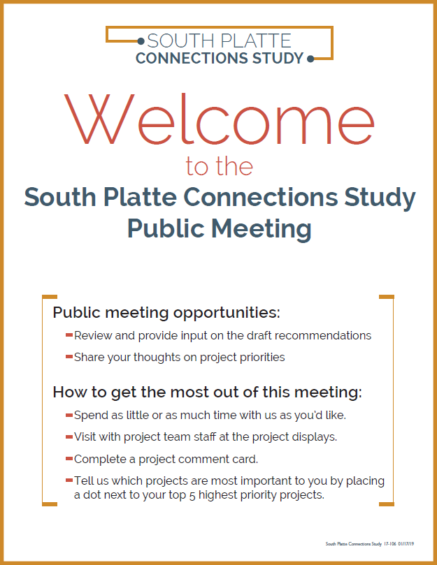 - Public meetings were held to share the crossing improvement recommendations and gather input from the public on project priorities. Missed the meeting? Check out the public meeting materials by clicking on the file below.