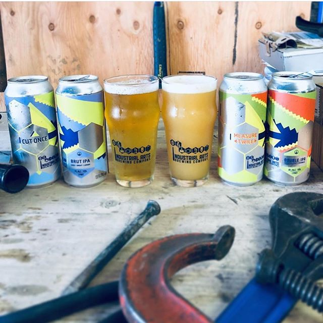 Also today.... repost @industrialartsbrewing : This Thursday 6/6 at 4pm, we're kicking off summer with two throwbacks from earlier this year. Measure Twice and Cut Once are BACK!  On the one hand, Measure Twice is a spelt DIPA sliding in at 8% ABV, it's dry-hopped with Vic Secret, Citra and Idaho 7 for those tropical melon notes that fit right in at any backyard BBQ.  On the other is Cut Once, a lively Brut IPA with bright lemon notes that's perfectly thirst quenching for those hot days.  Measure Twice is $18/4pk, Cut Once is $16/4pk no limits! These will see limited distro in our local market so check out beermenus.com for more info. See you tomorrow!