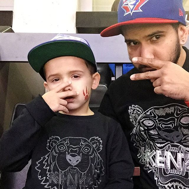 My son #jack is #savage #raptorsgame #jminij #Jj #kenzo #matching #fashion #family