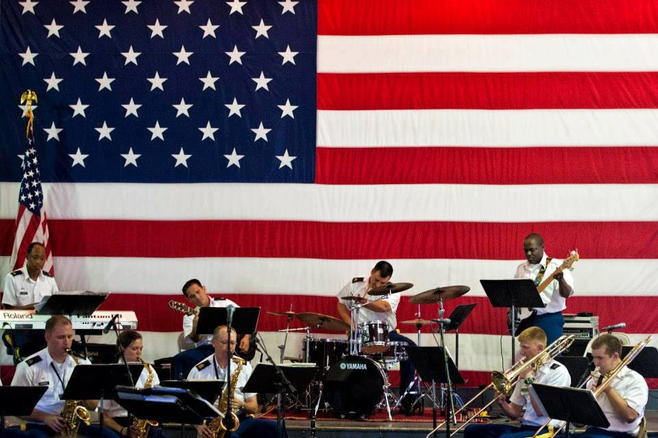 Justin Jon and the 246th Army Band. USS Yorktown
